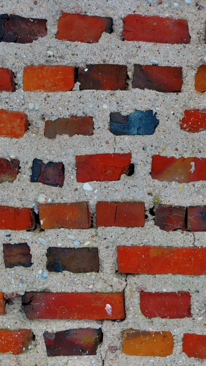 Bricks Wall Textur Wallpaper 720x1280