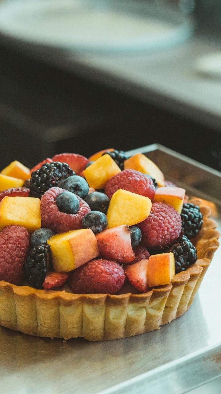 Cake Fruit Mix Wallpaper 720x1280
