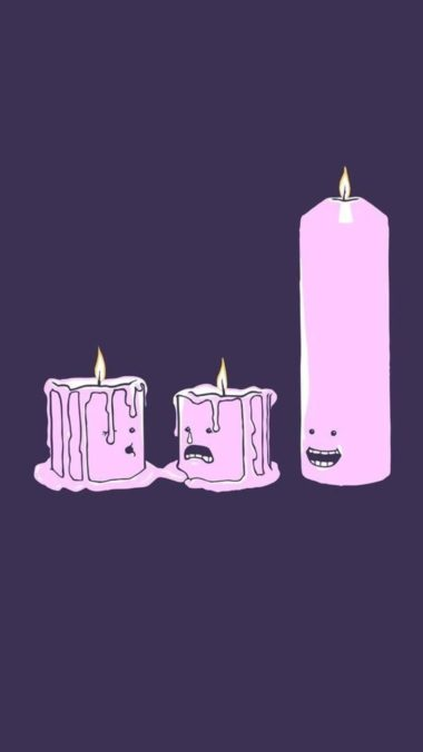 Candles Minimalism Pic Wallpaper 1080x1920 380x676