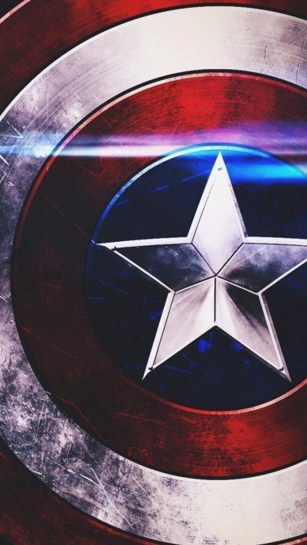Captain America Shield Image Wallpaper 1080x1920