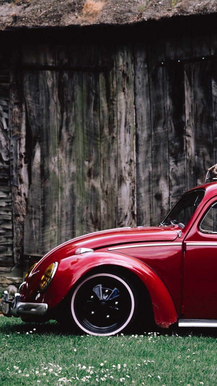 Car Red Retro Side View Wallpaper 2160x3840 768x1365