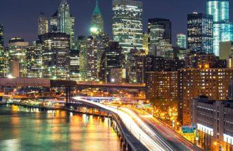 City Night Raod Wallpaper 1080x2160 340x220