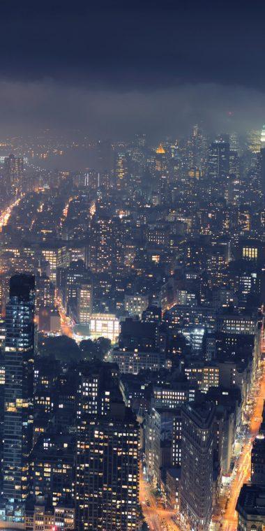City Night Wallpaper 1080x2160 380x760