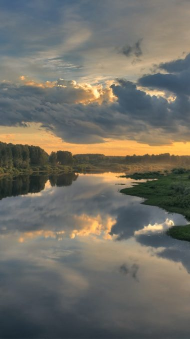 Cloud Landscape Nature Reflection River X1 Wallpaper 720x1280 380x676