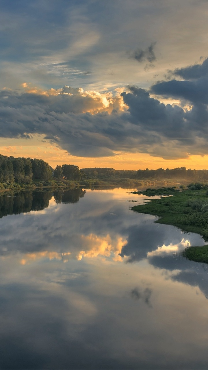 Cloud Landscape Nature Reflection River X1 Wallpaper