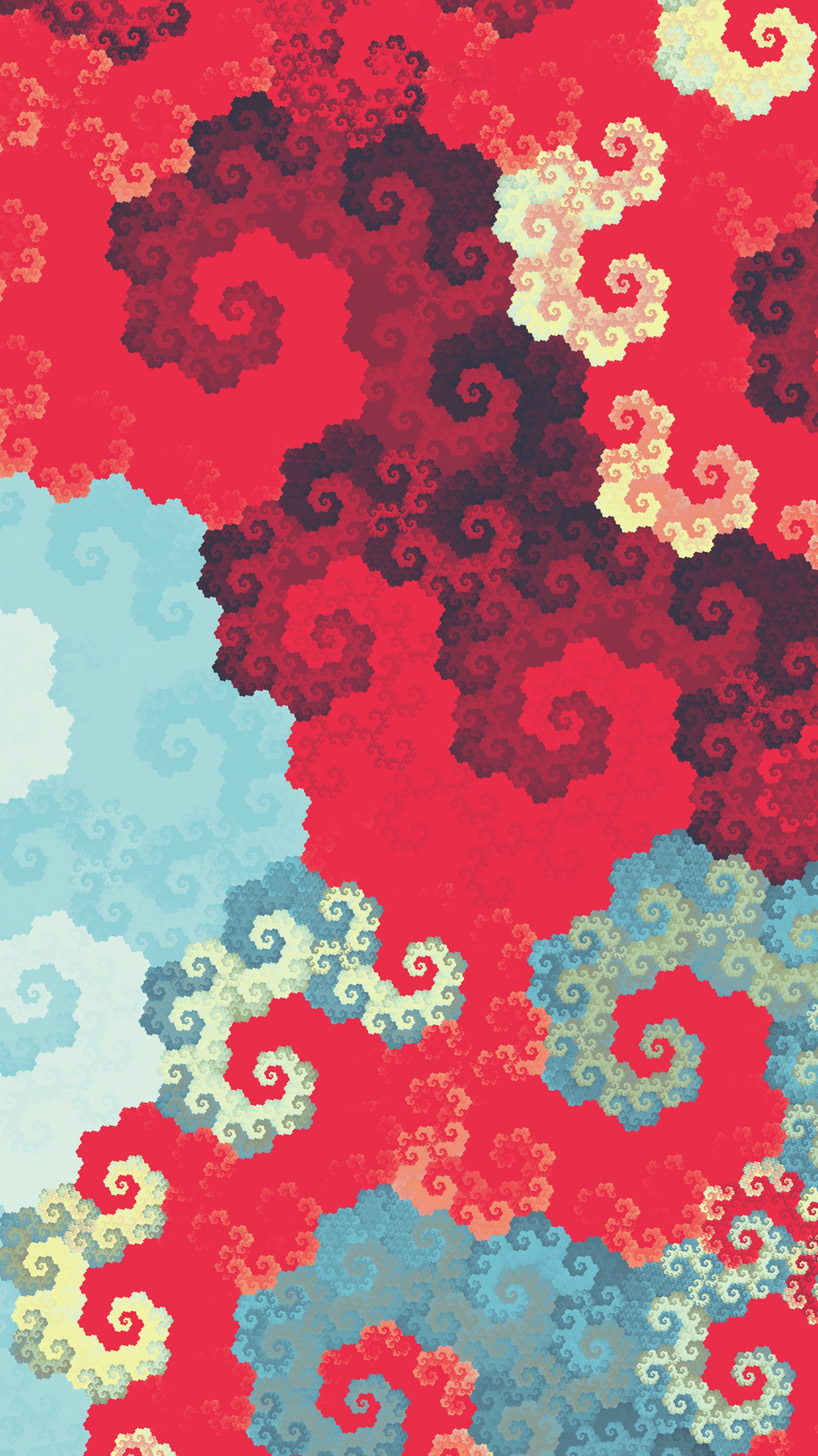 Clouds digital fractal art ua wallpaper 2160x3840 - Art wallpaper 2160x3840 ...