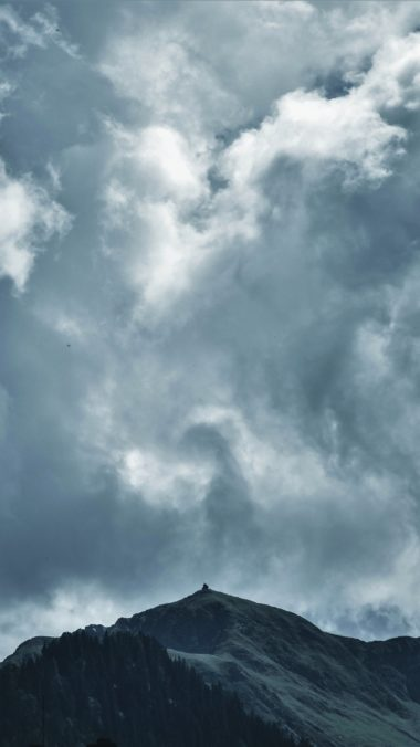 Clouds Mountains Sky Wallpaper 2160x3840 380x676