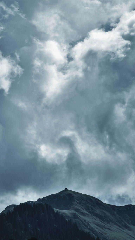 Clouds Mountains Sky Wallpaper 2160x3840 768x1365