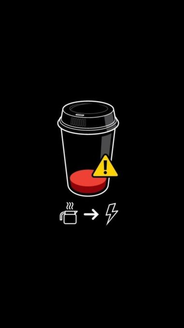 Coffee Battery Minimalism Wallpaper 1080x1920 380x676
