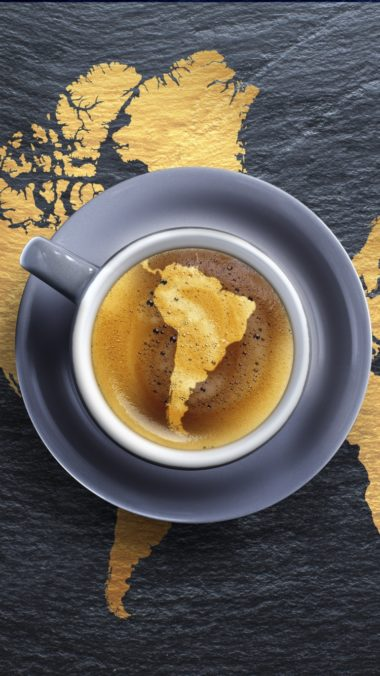Coffee Foam Beverage Cup Saucer Creative Continents 380x676