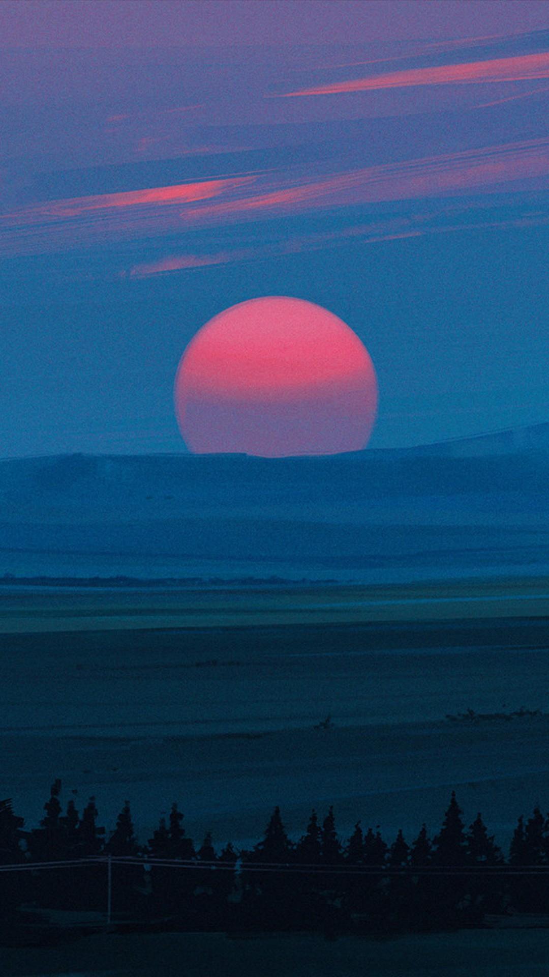 Cold Red Light Sunset Kg Wallpaper - [1080x1920]
