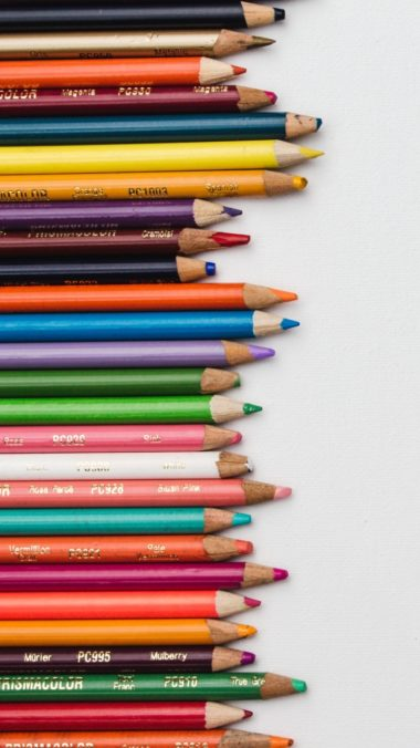 Colored Pencils Set Sharpened Wallpaper 720x1280 380x676