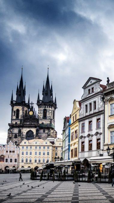 Czech Republic Prague Street Building Evening 380x676