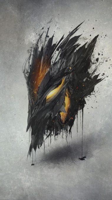 Demon Mask Artwork Ap Wallpaper 1080x1920 380x676