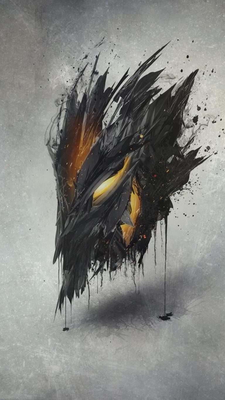 Demon Mask Artwork Ap Wallpaper 1080x1920 768x1365