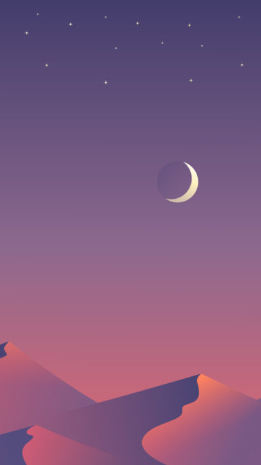 Desert Nights Moon 8n Wallpaper 1080x1920 380x676
