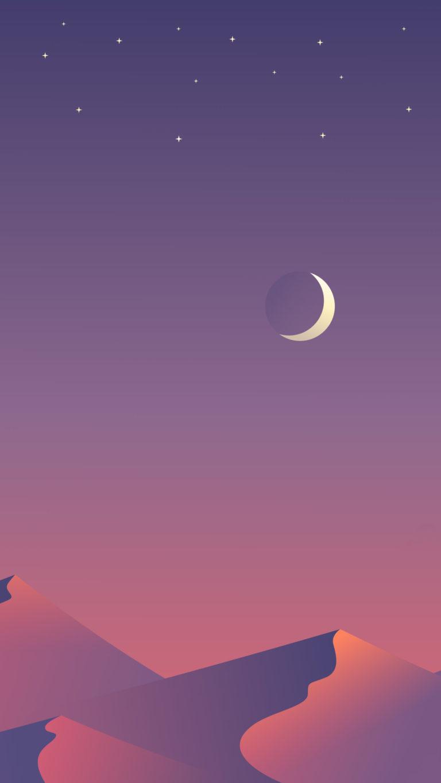Desert Nights Moon 8n Wallpaper 1080x1920 768x1365
