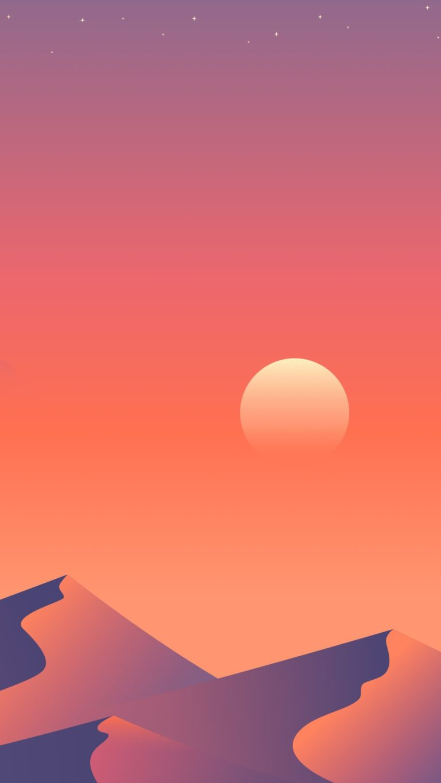 Desert Sun Day Minimalism 1a Wallpaper 1080x1920 768x1365