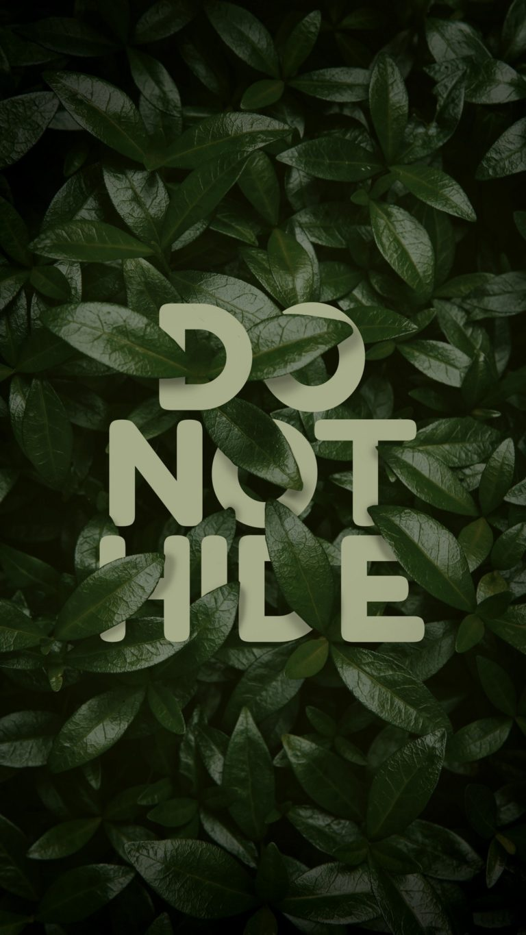 Do Not Hide Wallpaper 1080x1920 768x1365