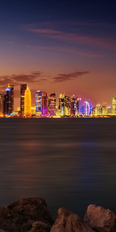 Doha City Wallpaper 1080x2160 380x760