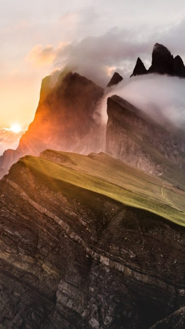 Dolomites Mountain Range Sony Bravia Tv Original Oled Xb Wallpaper 1080x1920 380x676