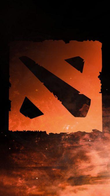 Dota 2 Logo Art Shadow 380x676