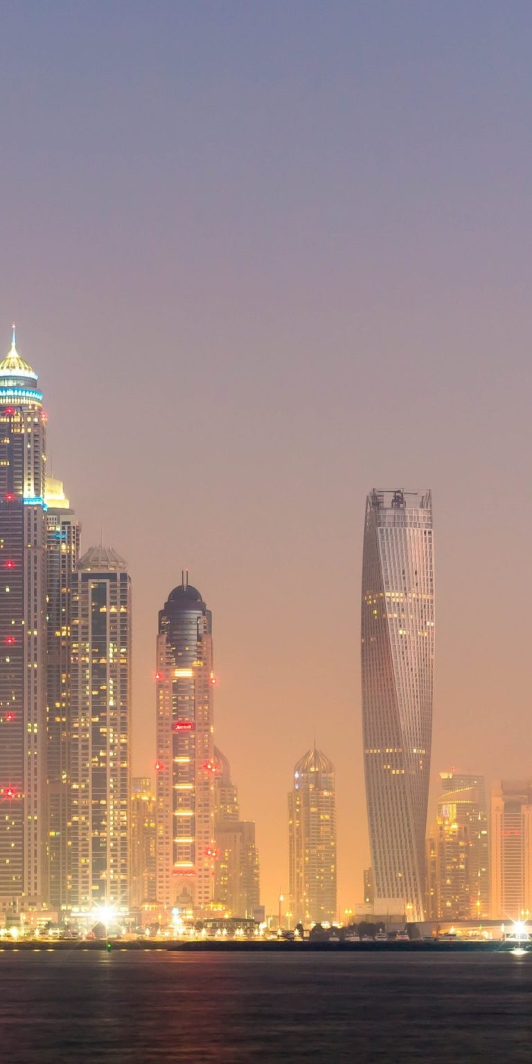 Dubai Lights Wallpaper 1080x2160 768x1536