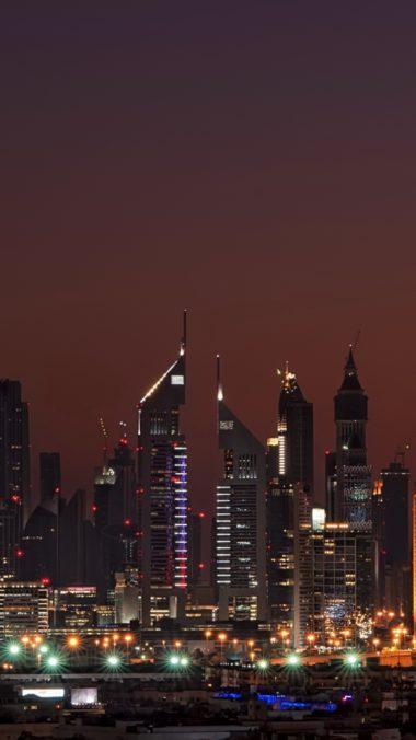 Dubai United Arab Emirates Night Home High Rise 380x676