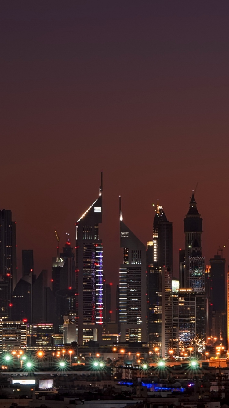 Dubai United Arab Emirates Night Home High Rise