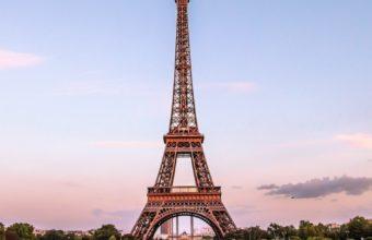 Eiffel Tower Paris Gold Evening France Fountain 340x220