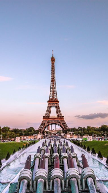 Eiffel Tower Paris Gold Evening France Fountain 380x676