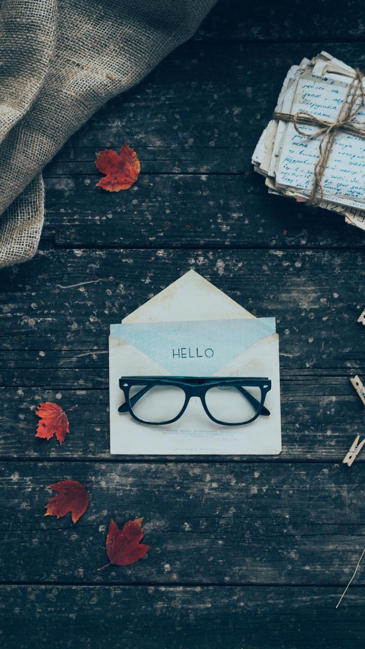 Envelope Letters Glasses Wallpaper 720x1280