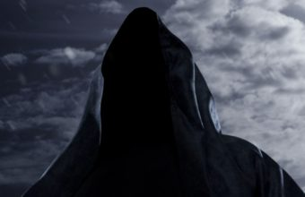 Faceless Death Scythe Rain Sky Night Moon 340x220