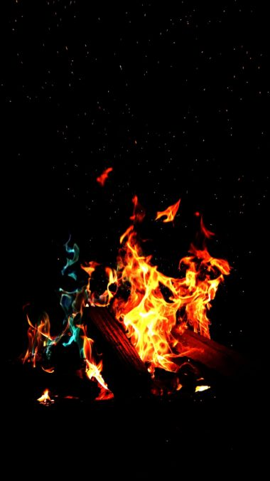 Fire Flame Dark Wallpaper 2160x3840 380x676