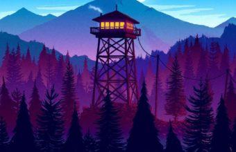 Firewatch Sunset Artwork 3x Wallpaper 1080x1920 340x220