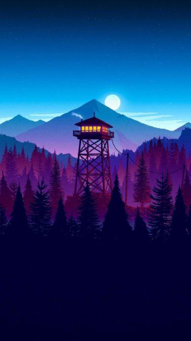 Firewatch Sunset Artwork 3x Wallpaper 1080x1920 380x676