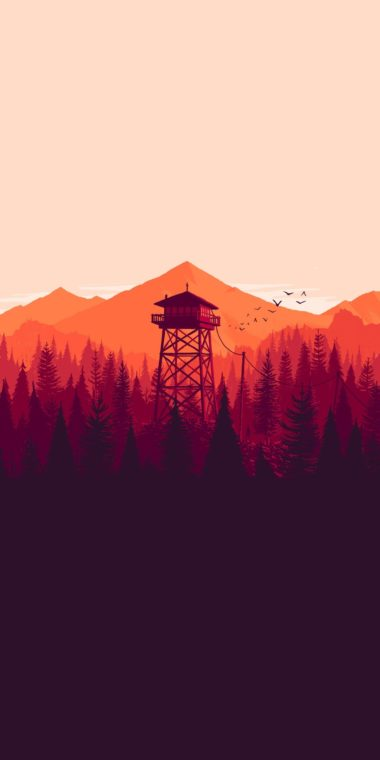 Firewatch Wallpaper 1080x2160 380x760