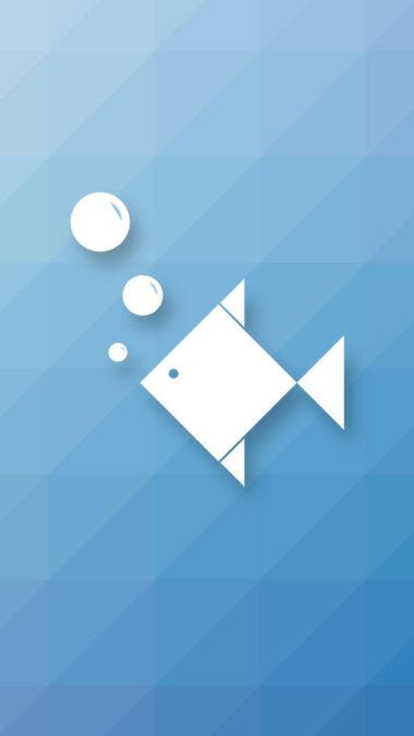Fish Minimalism Hd Wallpaper 1080x1920 380x676