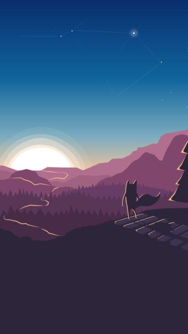 Fox Forest Minimalism Artwork Es Wallpaper 1080x1920 380x676