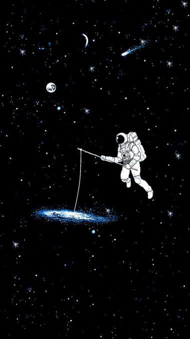 Galaxy Astronaut Wallpaper 1080x1920 380x676
