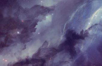 Galaxy Nebula Blurring Stars 340x220