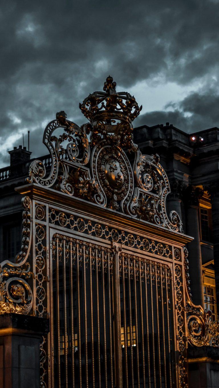 Gate Sky Overcast Night Wallpaper 2160x3840 768x1365