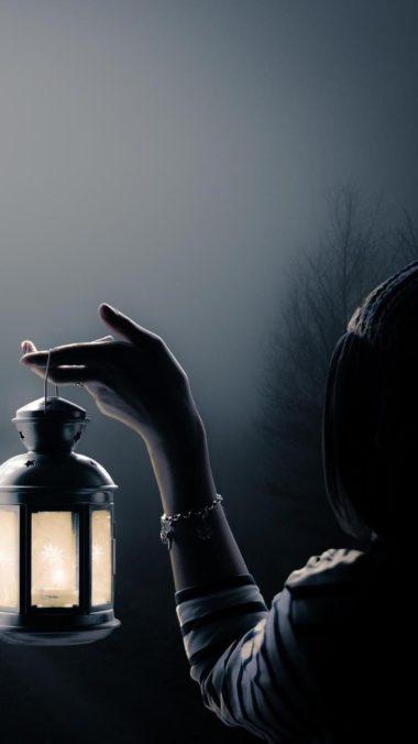 Girl With Lantern Art Wallpaper 1080x1920 380x676