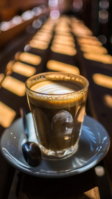 Glass Coffee Light Cafe Wallpaper 2160x3840 380x676