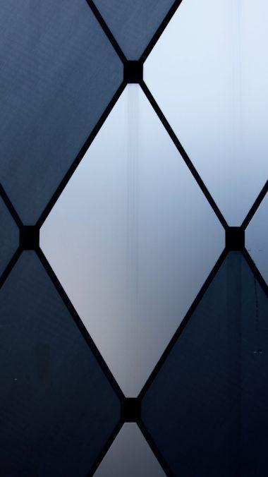 Glass Texture Shapes Wallpaper 2160x3840 380x676