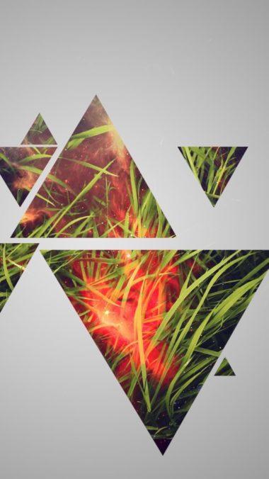 Grass Triangle Wallpaper 2160x3840 380x676