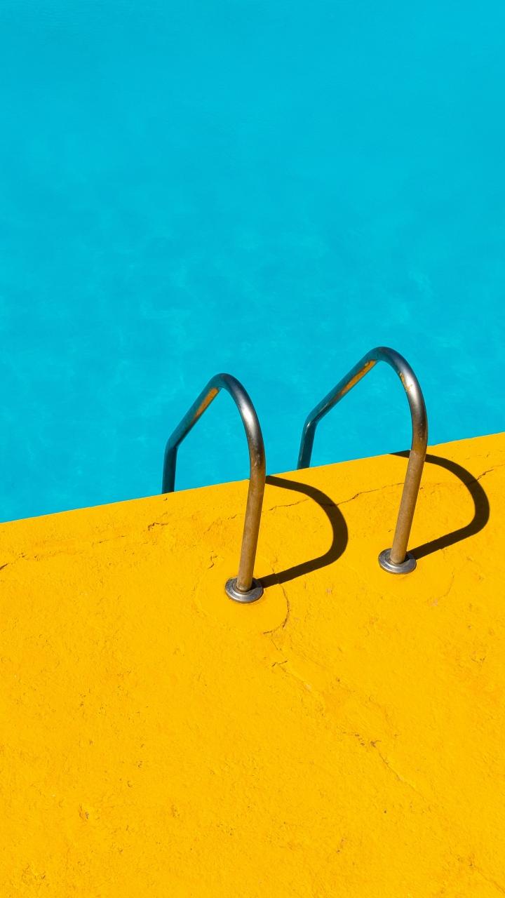 Handrail Swimming Pool Water Minimalism Wallpaper 720x1280