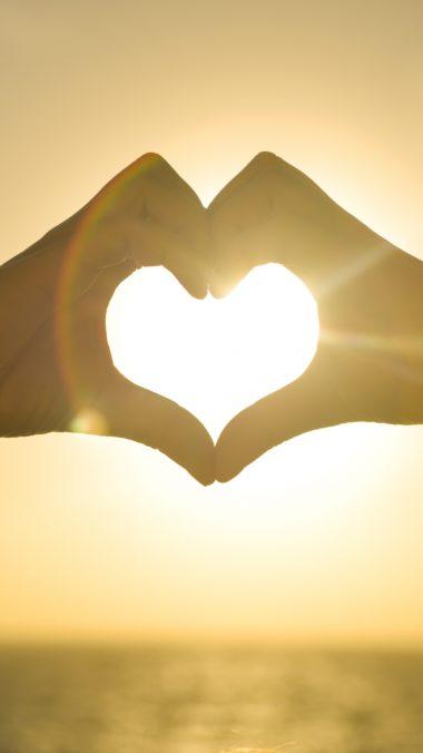 Hands Heart Light Lov Wallpaper 2160x3840 380x676