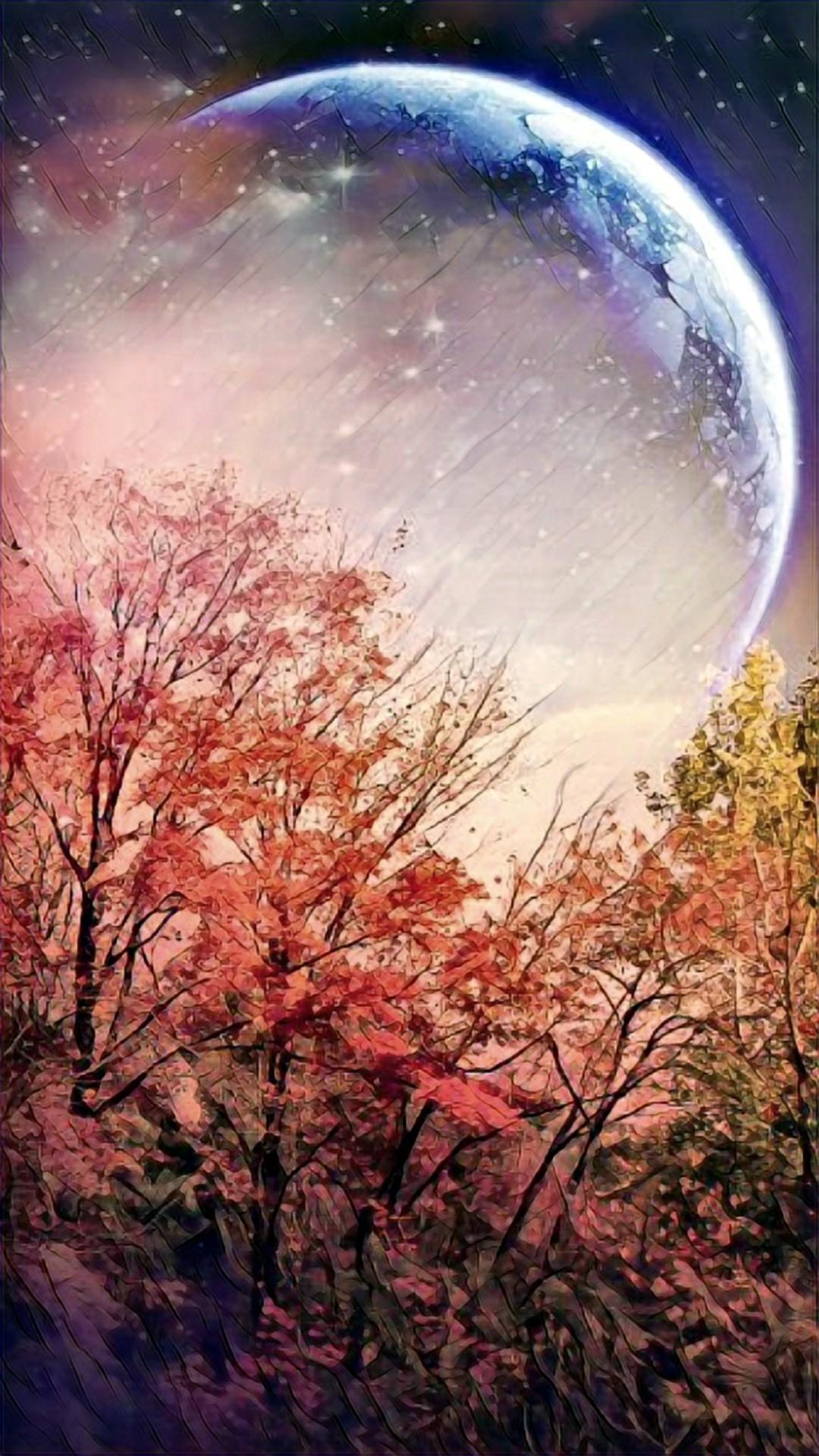 1080 x 1920 moon wallpaper: Harvest Moon Wallpaper