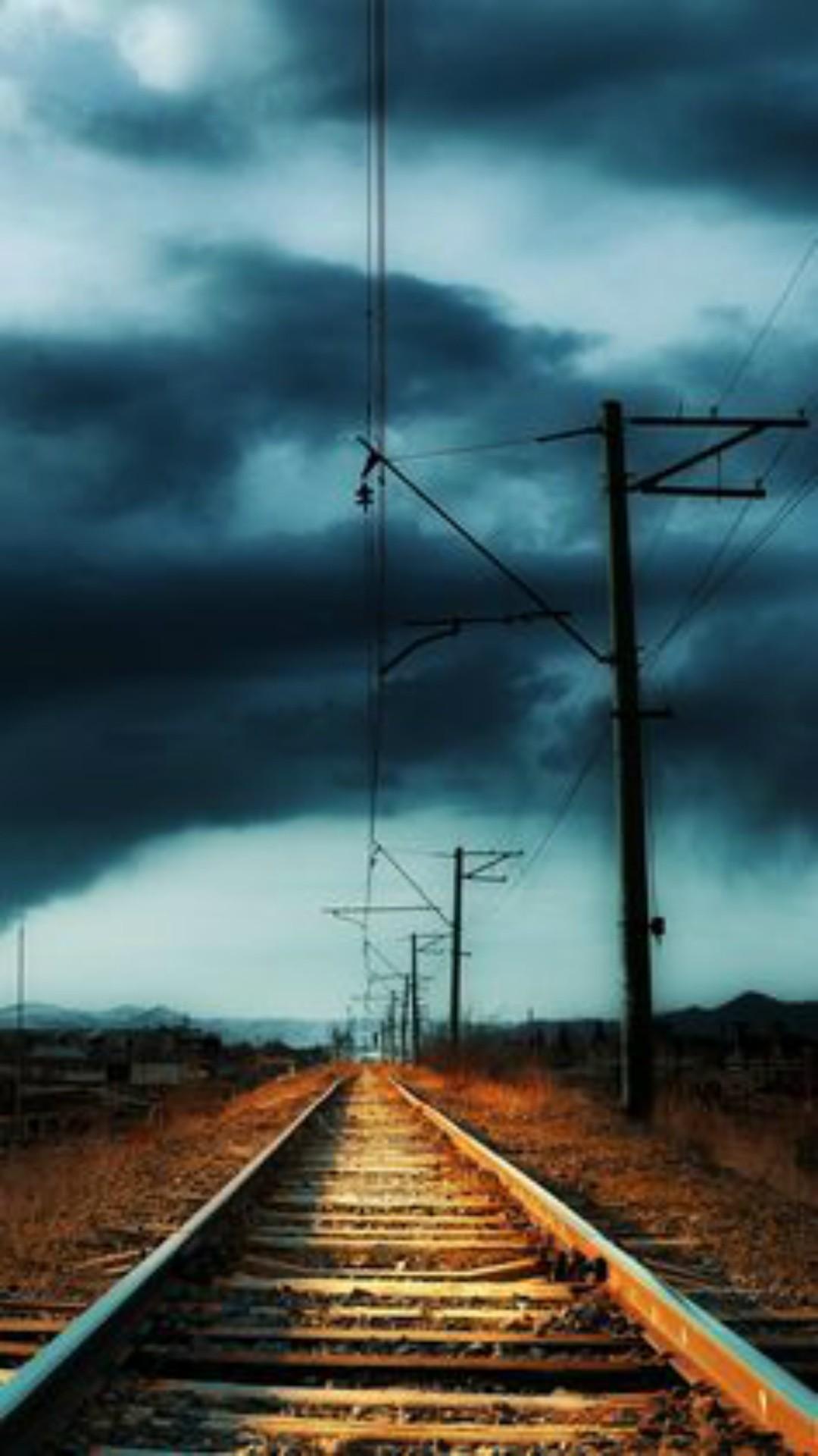 Hd Railway Tracks Wallpaper - [1080x1920]
